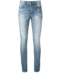 Saint Laurent | Distressed Skinny Jeans 28 Cotton/Spandex/Elastane
