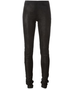 Rick Owens | Stretch Leather Leggings 42 Lamb Skin/Cotton/Spandex/Elastane