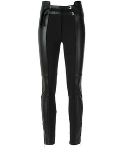 GLORIA COELHO | Skinny Panelled Trousers 38 Leather