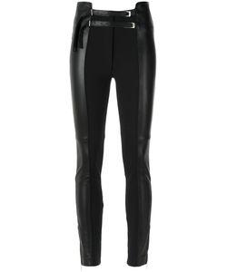 GLORIA COELHO | Skinny Panelled Trousers 38 Leather