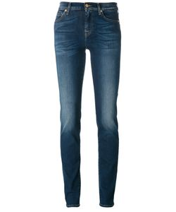 7 for all mankind | Light-Wash Skinny Jeans 28
