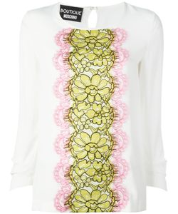 BOUTIQUE MOSCHINO | Lace Panel Blouse 42 Rayon/Silk