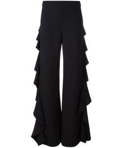 Sara Battaglia   Ruffled Sides Trousers Size 44