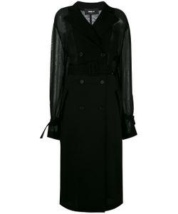 Yang Li   Jersey-Panelled Trench Coat