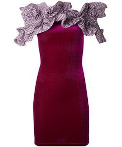 Y / PROJECT   Платье С Рюшами И Открытыми Плечами