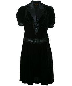 Comme Des Garcons | Бархатное Платье С Атласными Лацканами Vintage