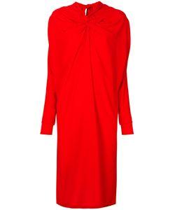 Marni | Платье-Миди С Декоративным Узелком И Драпировкой
