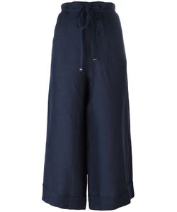 DANIELA GREGIS | Super Wide Cropped Trousers Linen/Flax