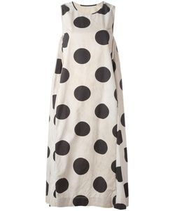 UMA WANG | Polka Dot Dress Small Cotton/Wool