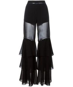 Alberta Ferretti | Ruffled Fla Trousers 42 Silk