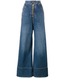 Ellery | Wide Leg Denim Jeans 26 Cotton/Polyester