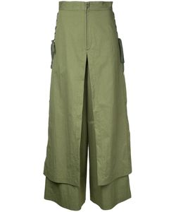G.V.G.V. | G.V.G.V. Lace Up Layered Wide Trousers