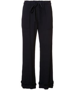 Raquel Allegra | Frill Detail Cropped Trousers 3 Rayon