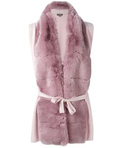 N.PEAL   Furry Detail Cardi-Coat Size Xs