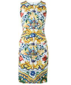 Dolce & Gabbana | Платье С Принтом Majolica