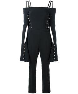 David Koma   Cut-Out Stud Jumpsuit Size 8