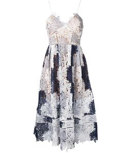 SELF-PORTRAIT   Lace-Embroidered Flared Dress