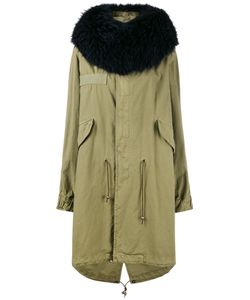 MR & MRS Italy | Raccoon Fur-Trimmed Parka Size Xxs