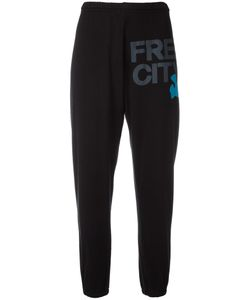 Free City | Freecity Logo Print Sweatpants Medium Cotton