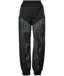 Diesel | Perforated Trousers Small Nylon/Spandex/Elastane