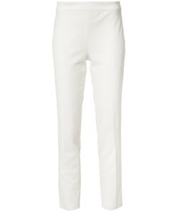 Josie Natori | Slim-Fit Trousers 10 Cotton/Nylon/Spandex/Elastane