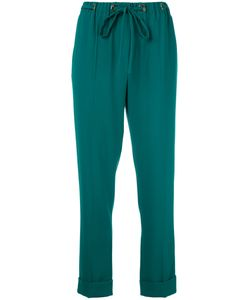 Kenzo | Drawstring Trousers 38 Polyester/Triacetate