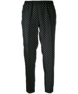 Alberto Biani | Polka Dot Print Trousers 46 Silk