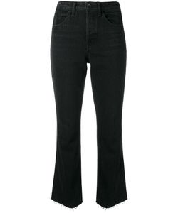 Helmut Lang | High Rise Cropped Trousers 28 Cotton/Polyester