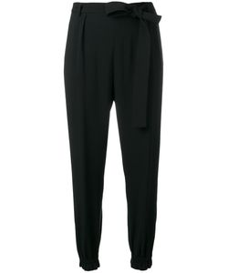 MSGM | Elasticated Hem Trousers 40 Polyester/Acetate/Viscose