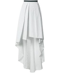 Brunello Cucinelli | Striped Asymmetric Skirt 40 Cotton