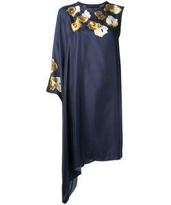 Martin Grant   Print Asymmetric Dress 36 Silk
