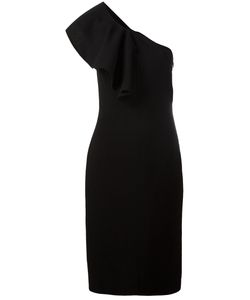 Saint Laurent | Ruffle Trim One Shoulder Dress 38