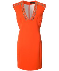 Barbara Bui   Eyelet-Embellished Crepe Dress Size 6