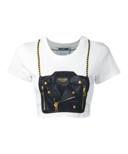 Moschino | Handbag Illusion Cropped T-Shirt Size 44