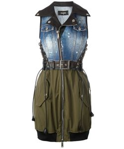 Dsquared2 | Denim Top Bondage Dress