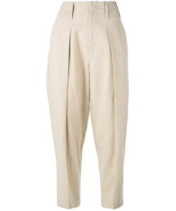 Y'S | Wide Leg Tapered Trousers