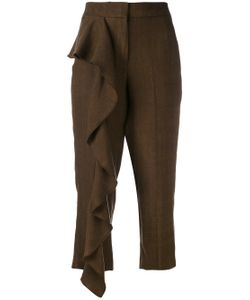 Dondup | Ruffle Panel Cropped Trousers