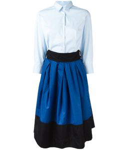 SARA ROKA | Skirt Panel Shirt Dress Size 44