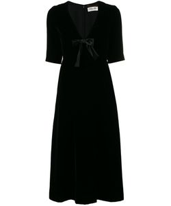 Saint Laurent | Velvet Midi Dress 36 Cupro/Viscose/Silk