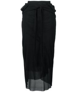 Rick Owens | Waist Tie Sheer Skirt 42 Silk/Viscose