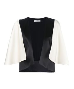 Lanvin | Two-Tone Cape Effect Jacket 38 Acetate/Viscose/Silk