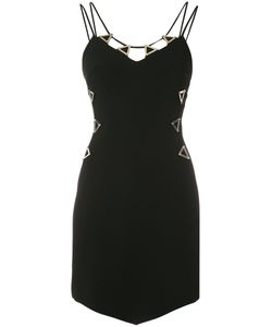 David Koma | Metal Neckline Dress 8 Viscose/Acetate/Spandex/Elastane