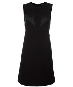 Neil Barrett | Geometric Insert Dress Small Polyester/Acetate/Cotton/Polyester