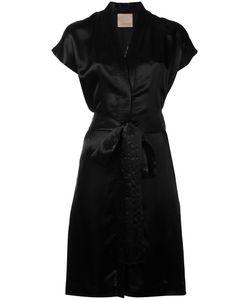 Laneus | Eagle Embroidered Wrap Dress