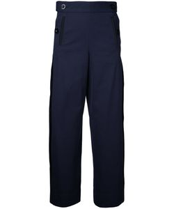Sacai | Sailor Button Side Pleated Trousers 2 Cotton/Polyester