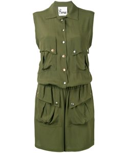 8pm | Button Up Playsuit Xs