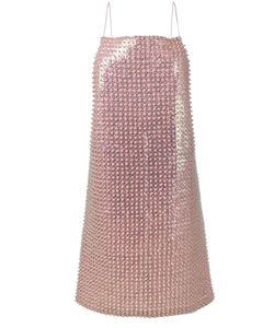 ADAM SELMAN | Sequin Embellished Slip Dress Size