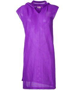 Comme Des Garcons | Платье Вафельной Вязки С Капюшоном Vintage
