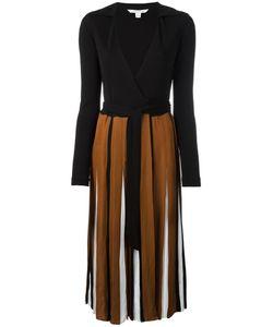 Diane Von Furstenberg | Pleated Wrap Dress 4 Viscose/Silk/Rayon