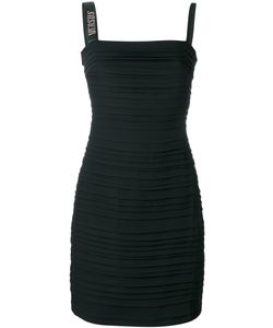 Versus | Ribbed Fitted Dress 38 Polyester/Viscose/Polyamide